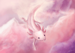 Animals Anonymous Axolotl and Olm by Mouselemur