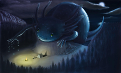 Night Axolotl by Jean Paul Medellin SympatheticMonsters