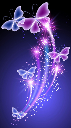 Colorful fluorescent butterfly wallpapers for galaxy S6 jpg