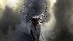 Wallpapers deer sky smoke horns Run darkness screenshot horn