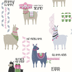 Crown Drama Llamas Pink Blue Wallpapers