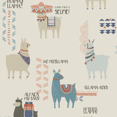 Crown Drama Llamas Feature Wall Wallpapers in Orange Teal Amazon co