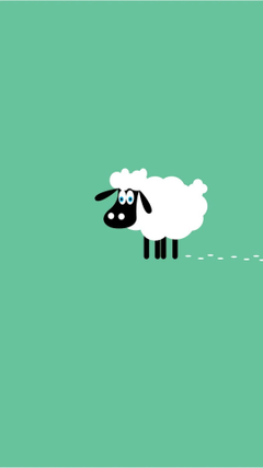 Sheep 9 Animals Minimalistic Wallpapers for iPhone