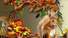 HD Autumn Squirrel Wallpapers