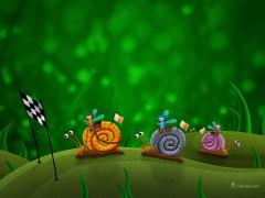 Snail Racing Desktop wallpapers Vladstudio