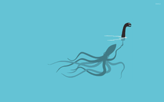 Giant squid playing as the Loch Ness Monster wallpapers