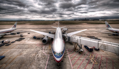 Image Aviation Airplane Passenger Airplanes Boeing 777 HDR Clouds