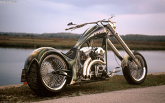 Cool Harley Davidson Chopper Exclusive HD Wallpapers