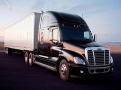 Freightliner Cascadia Raised Roof semi tractor g wallpapers
