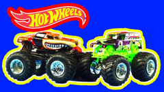 HOT WHEELS Monster Jam Off Road Monster Trucks Grave Digger and