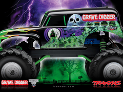 Drawn truck grave digger monster truck
