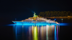 Bright lighting private yacht wallpapers and image