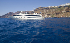 Yacht cruising in the Cyclades