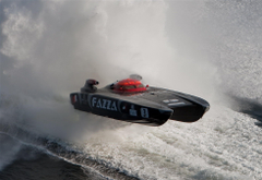 POWERBOAT boat ship race racing superboat custom cigarette