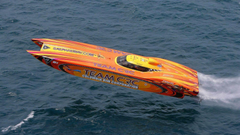 POWERBOAT boat ship race racing superboat custom cigarette