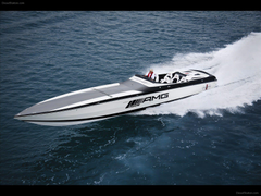 Mercedes Black Series 50 Marauder Cigarette Boat Exotic Car