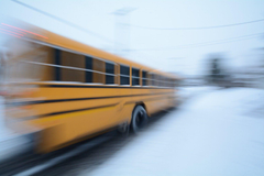 Winter School Winter Wheels Panning Round Usa Bus Wallpapers Desktop