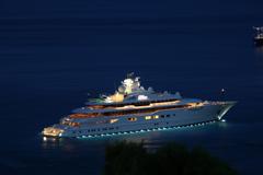 Wallpapers super yacht mega yacht dilbar night yacht motor