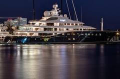 yacht mega yacht super yacht cakewalk harbor night the port home HD