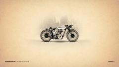 Vintage Motorbike Art Norton Cafe Racer HD Wallpapers