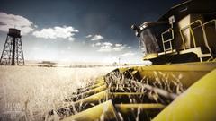 Farm tractor harvest crops fields wallpapers
