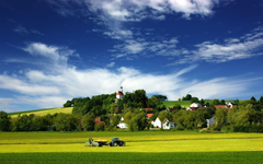 Image For Tractor In Field Wallpapers
