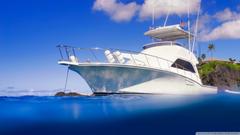 Yacht Clear Blue Ocean HD desktop wallpapers Widescreen High