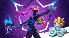New Galaxia Skin Is In Fortnite All Fortnite Crew Details Galaxia Fortnite Wallpapers Mega Themes