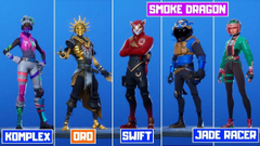 Smoke Dragon Fortnite wallpapers