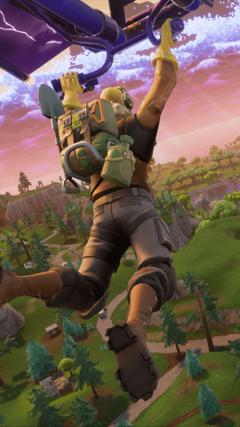 Fortnite Battle Royale Player Flying