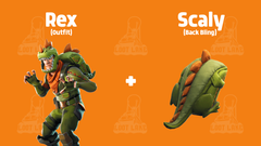 Coming soon Rex outfit Scaly back bling