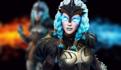 Fortnite Fan Puts a Colorful Spin on Valkyrie Skin Following the