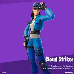 Cloud Striker Fortnite wallpapers