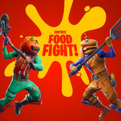 Playing Fortnite NEW MODE Food Fight