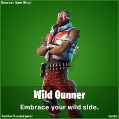 Wild Gunner Fortnite wallpapers