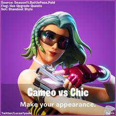 Cameo Vs Chic Fortnite wallpapers