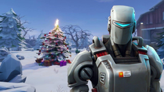Fortnite s A I M skin could be hinting at a Winter Theme coming
