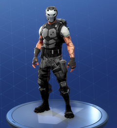 The Battlehawk skin with Carbide s helmet looks like a bank robber