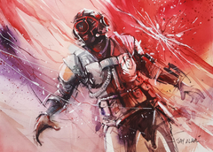 Fortnite Visitor Watercolour Painting Wallpapers and