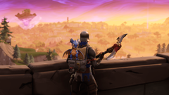 Blue squire and his trusty pet dragon FortNiteBR