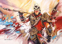 Fortnite Wukong Watercolour Painting Wallpapers and Stock