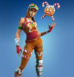 Gingerbread Raider Fortnite wallpapers