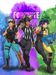 Fortnite commission I finished a couple weeks ago for a Christmas
