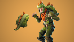 Rex Outfit and Scaly Back Bling Image via FortniteIntel