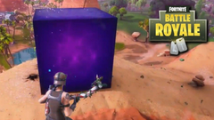 Giant Purple Cube Appears After Massive Lightning Strike in Fortnite