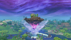 Fortnite s floating island is on the move and Kevin is going to