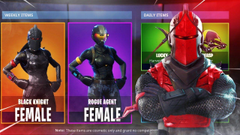 Fortnite CUSTOMIZE ALL SKINS NEW MALE RED KNIGHT