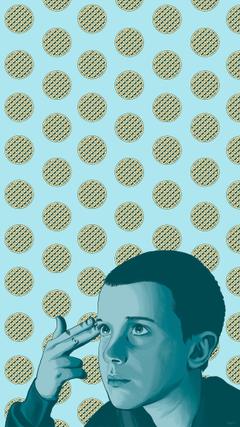 Stranger Things Eleven Fan Art Phone wallpaper Photoshop painting