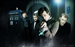 TARDIS Matt Smith BBC Sherlock Holmes Eleventh Doctor The