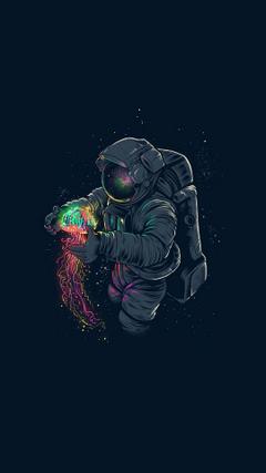 Risultati immagini per astronaut wallpapers phone